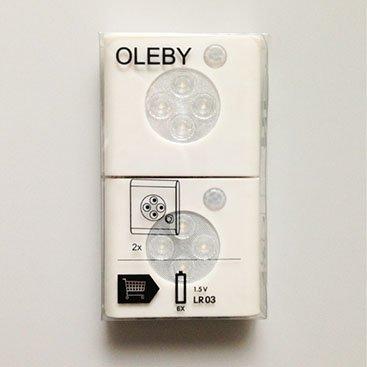 OLEBYワードローブ照明センサー付き ホワイト