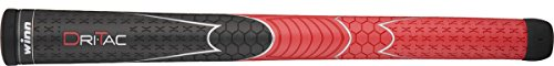 winn(ウィン) ドライタック (AVS) ゴルフグリップ ウッド&アイアン用  DT7-RD レッド ウッド&アイアン用オーバーサイズ