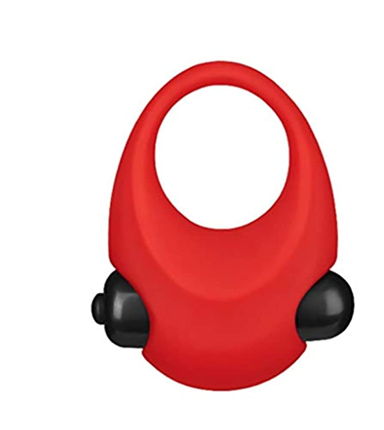 仲良し地質学医薬品大人に適して 安全な遅延リング付属品、男性のための優れた柔らかいリングのシリコーンリングのマッサージ セクシー (Color : 赤)