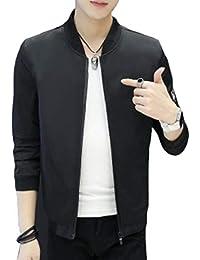 chenshiba-JP スタンドアップジャケットメンズカジュアルカジュアル軽量ジッパースタンドカラージャケット