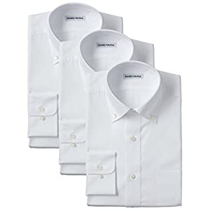 (はるやま) HARUYAMA 42サイズ展開 形態安定加工 イージーケア長袖白ボタンダウンワイシャツ 3枚セット M151180084 01 ホワイト 3878(首回り38cm×裄丈78cm)