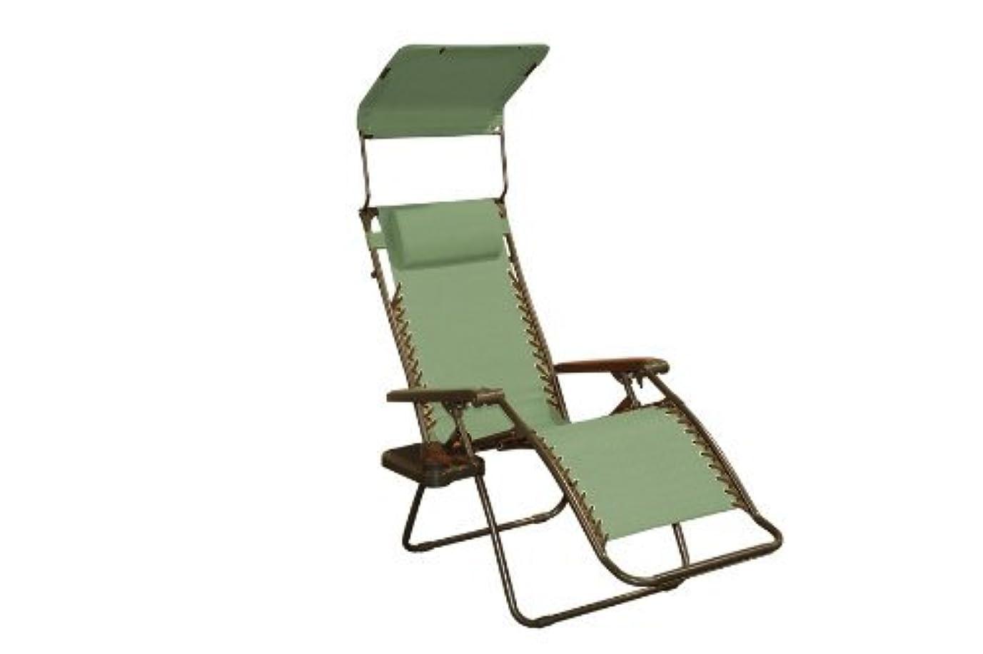 限り示す海賊Bliss Hammocks Zero Gravity Chair with Canopy and Side Tray, Sage Green, 26