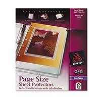 - - - - - - - top-load Poly three-holeシートプロテクター、non-glare、手紙、50/ボックス