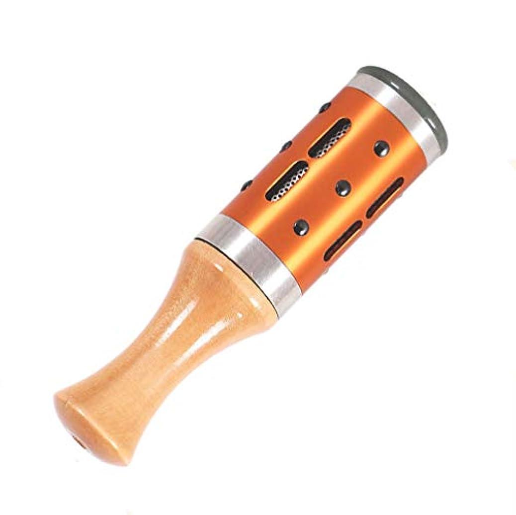 アウター紫の発疹Fukuka 温灸器 温灸棒 艾器 棒灸器 灸器 温灸 360°回転可能 ローラー式 ハンディタイプ ゴールド