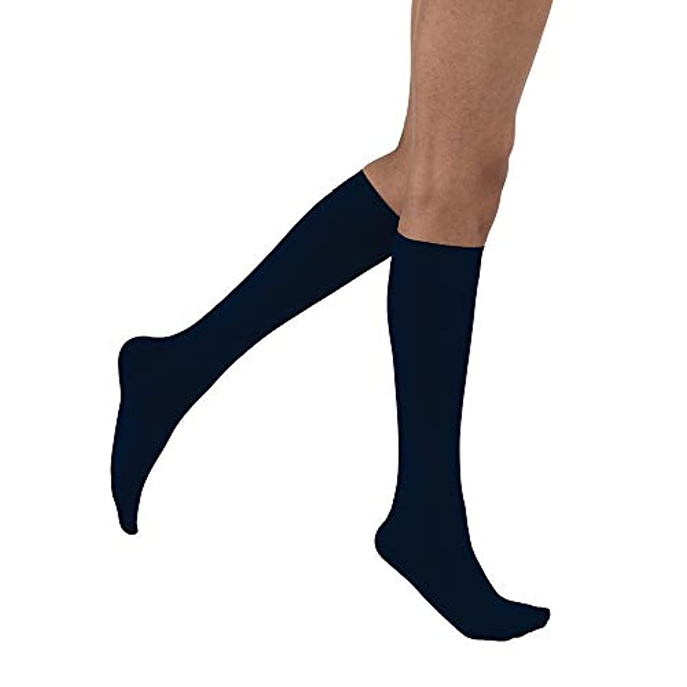 聴覚障害者外部訴えるJobst Opaque Women's Closed Toe 15-20mmHg Knee High - X-Large, Midnight Navy by Jobst