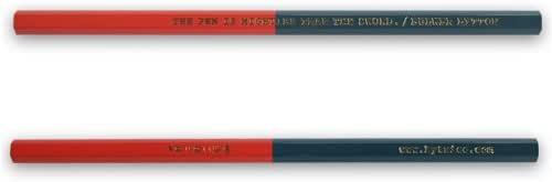 「ペンは剣よりも強し」えんぴつ 朱×藍 (designed by エアコンディションド)