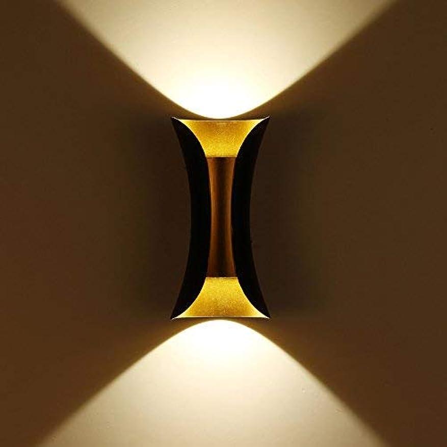 ショートカット地上でジェーンオースティン壁面ライト, Led屋外防水ウォールランプホテルの壁双頭外装ライトドアポストバルコニー上下照明、暖かい白 AI LI WEI (Color : Warm White)