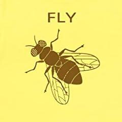 おもしろ デザイン FLY 蝿 ハエ Tシャツ ライトイエロー MLサイズ