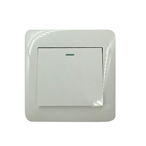 Supermait Wall Switch Light Switch 1 Gang 1 Way Control On/Off Switches for Lamps Fans Appliances