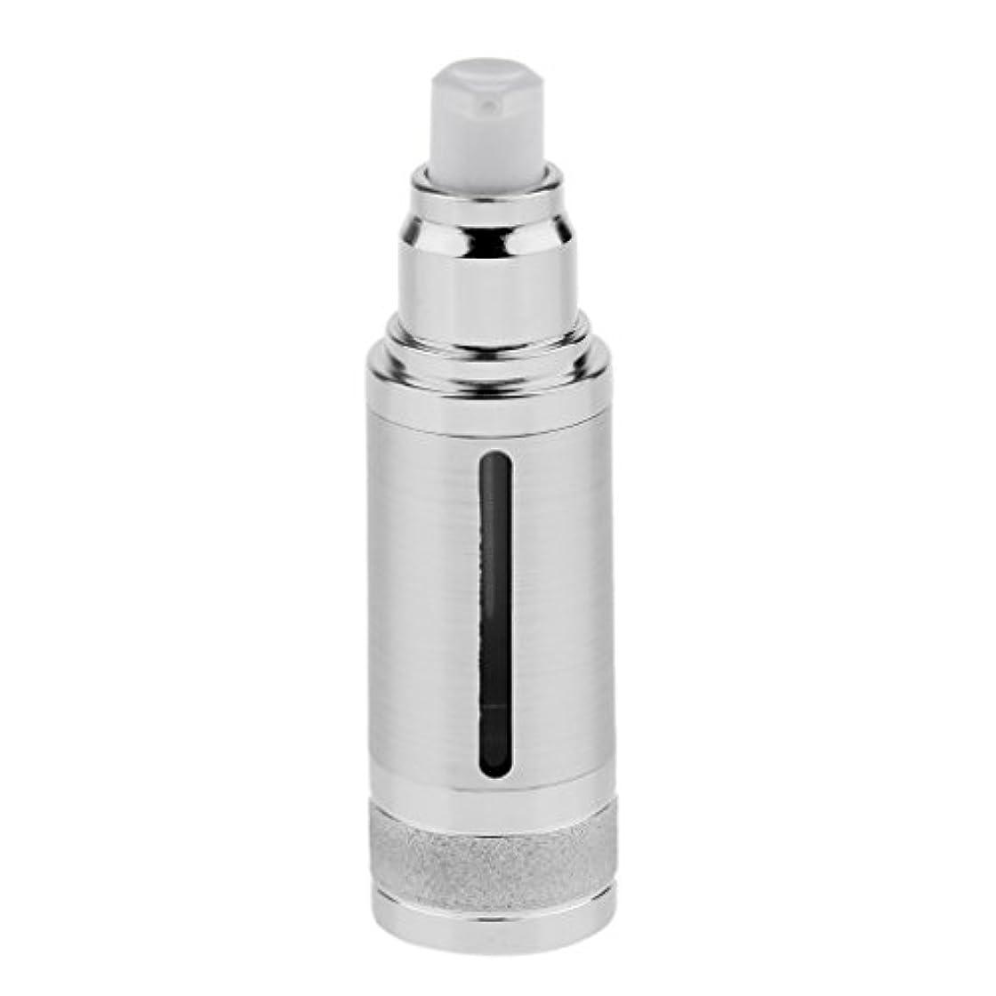フォージチャレンジ複製ポンプボトル 空ボトル エアレスボトル 30ml 化粧品 コスメ 香水 オイル 詰替え 容器 DIY 2色選べる - 銀