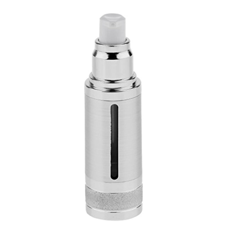 エーカー委任する尋ねるポンプボトル 空ボトル エアレスボトル 30ml 化粧品 コスメ 香水 オイル 詰替え 容器 DIY 2色選べる - 銀