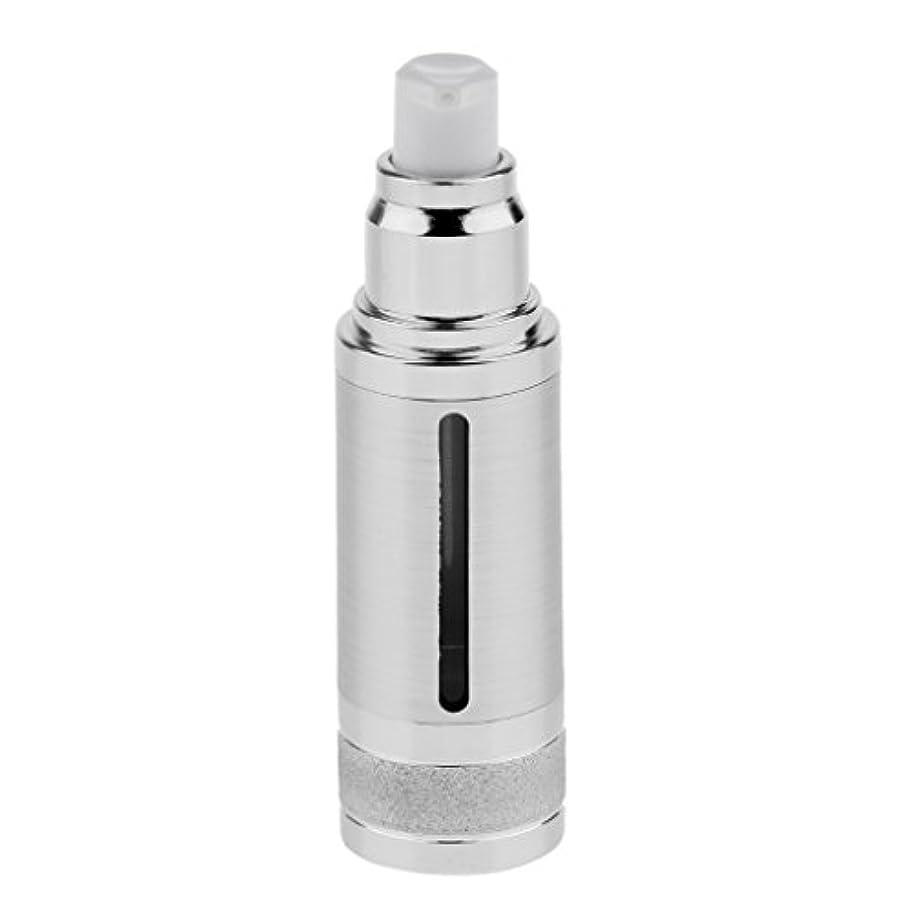 一部きらめき尋ねるポンプボトル 空ボトル エアレスボトル 30ml 化粧品 コスメ 香水 オイル 詰替え 容器 DIY 2色選べる - 銀