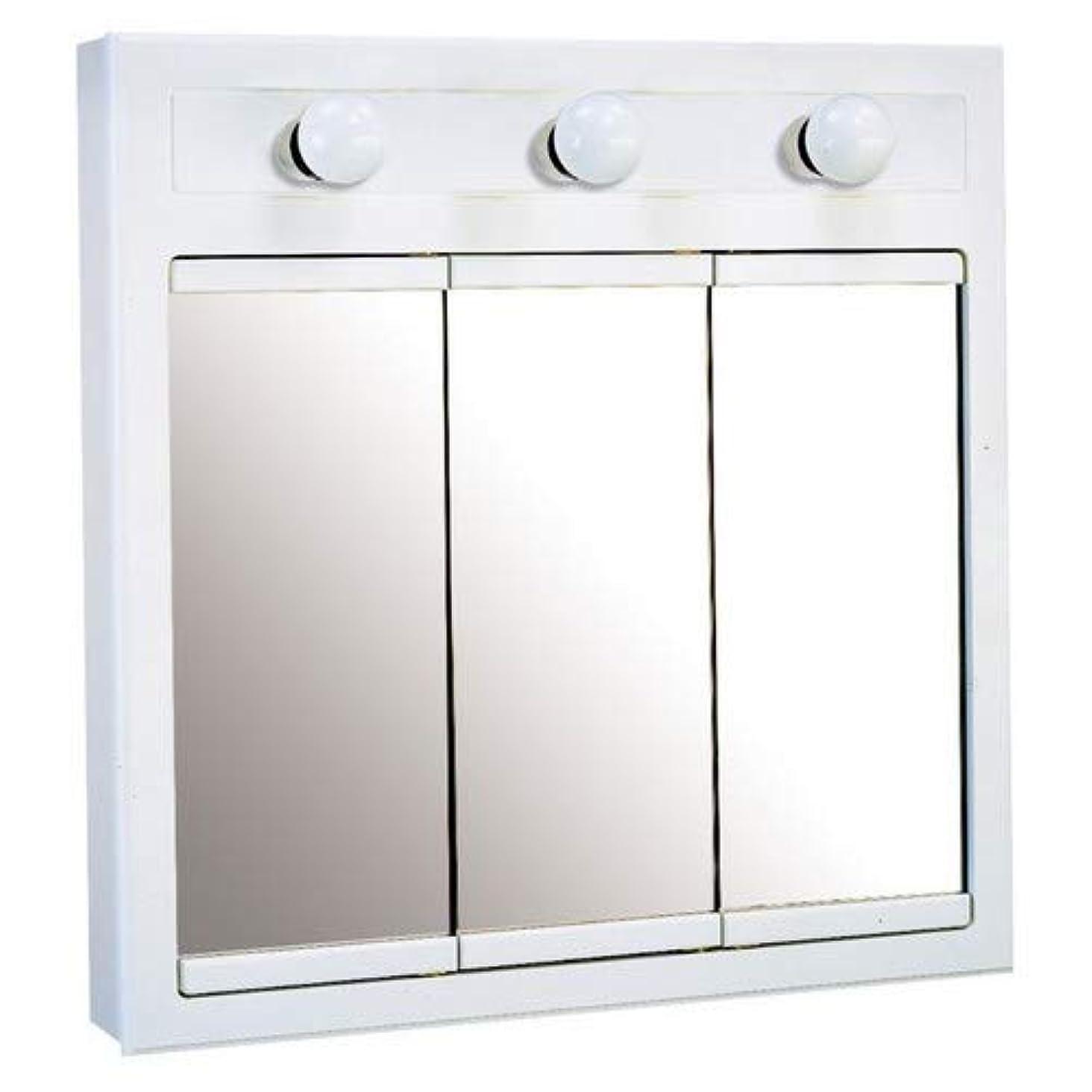利用可能首第四デザインハウス532374 24インチコンコードready-to-assemble 3ライト薬キャビネット、ホワイト