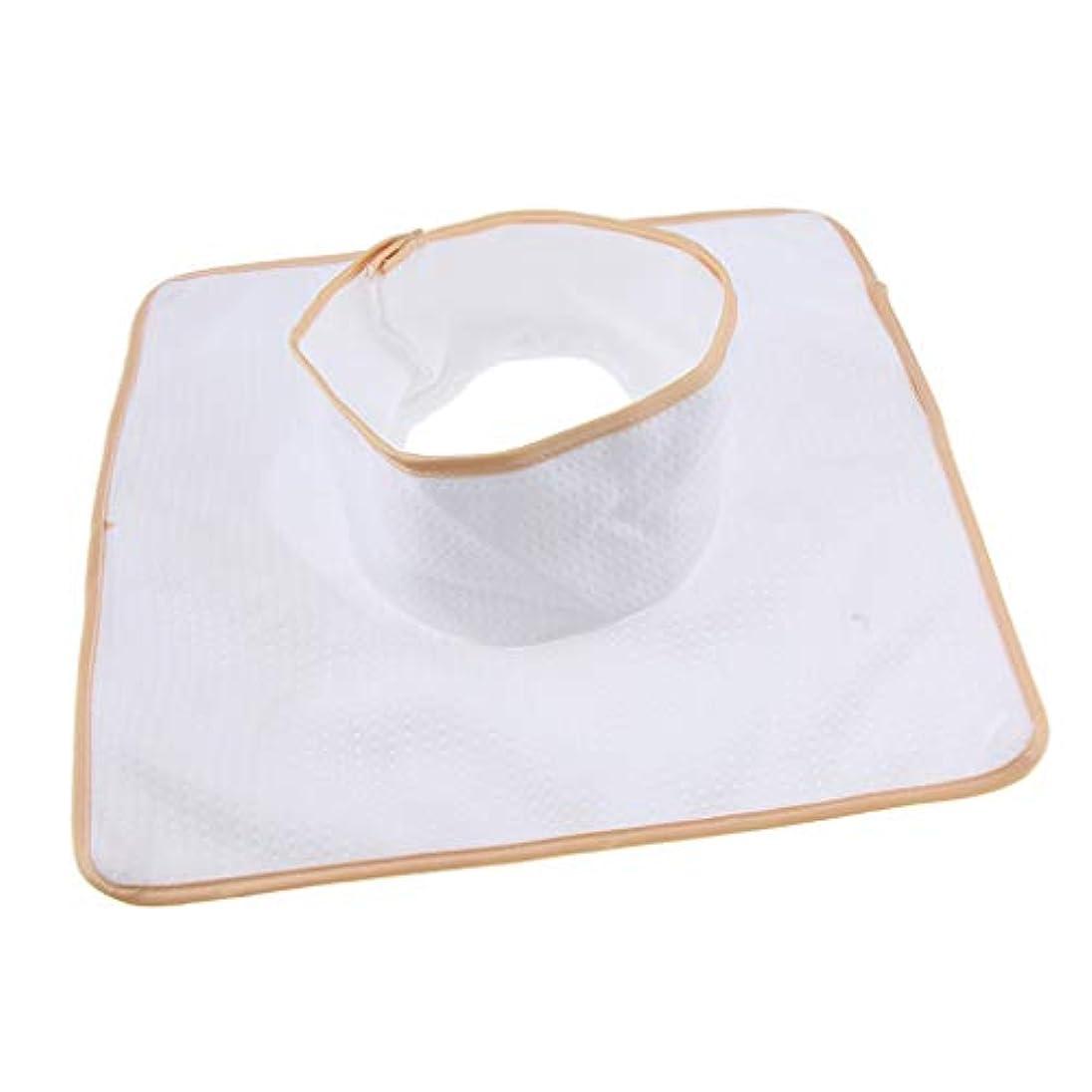 見ました債務者ハッチD DOLITY マッサージ ベッド テーブル ヘッドパッド 頭の穴付 再使用可能 約35×35cm 全3色 - 白