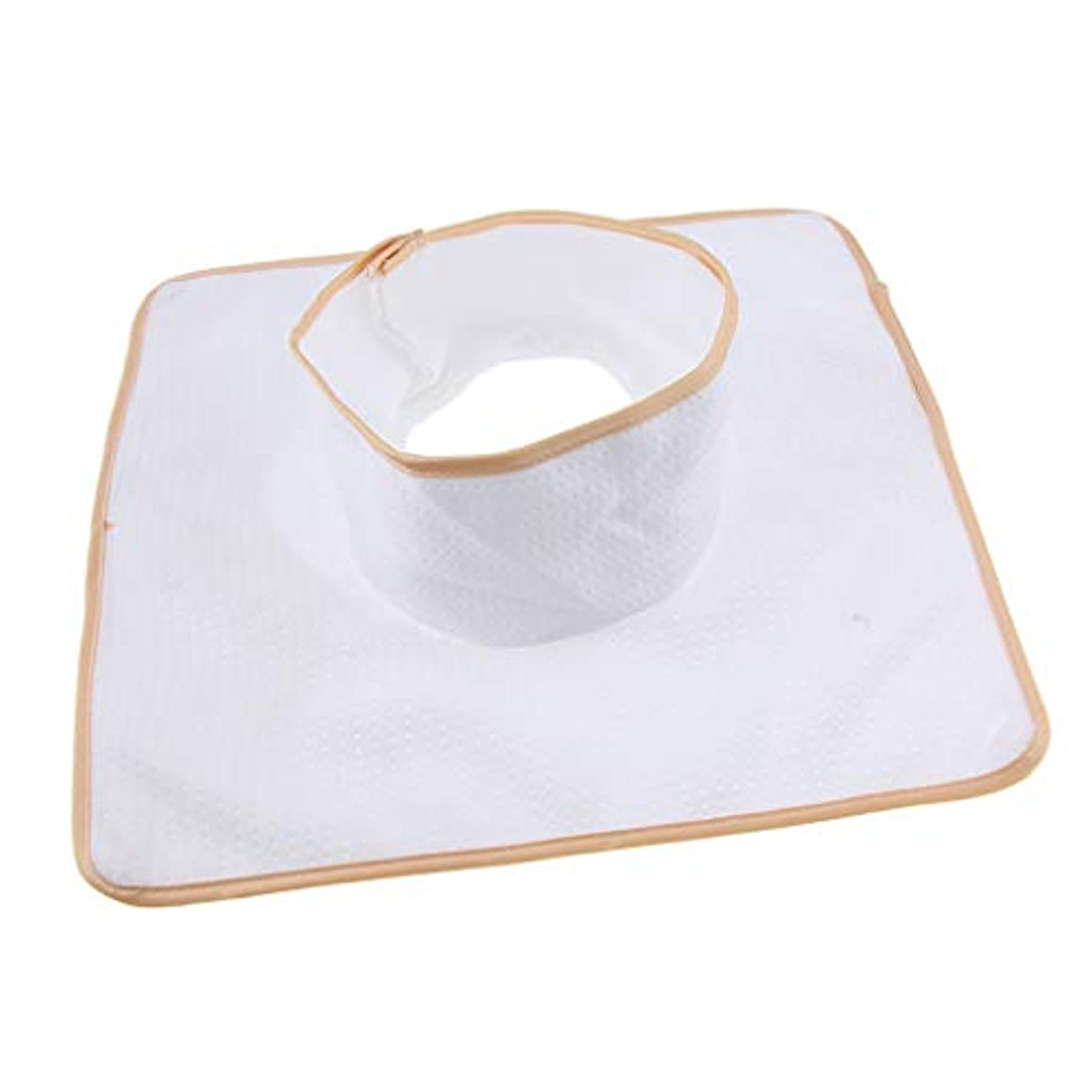 開発半導体恐れD DOLITY マッサージ ベッド テーブル ヘッドパッド 頭の穴付 再使用可能 約35×35cm 全3色 - 白