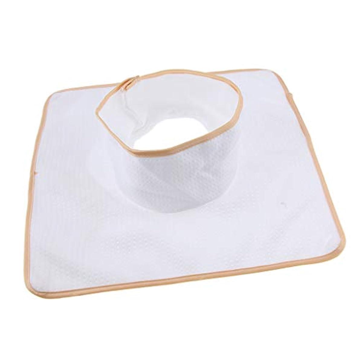 ゆでるやりがいのある賞賛するマッサージ ベッド テーブル ヘッドパッド 頭の穴付 再使用可能 約35×35cm 全3色 - 白