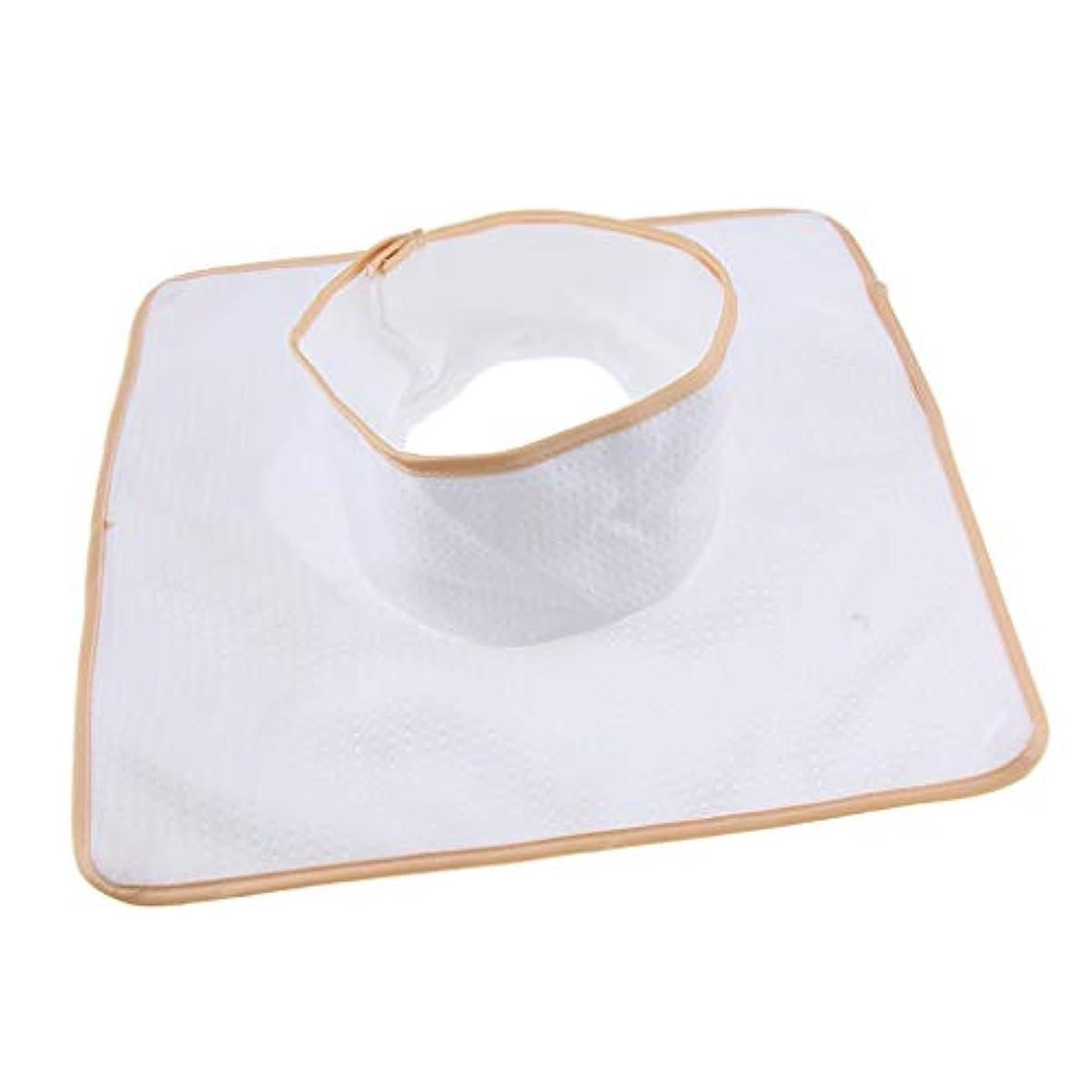 悲鳴フィットネスゲートウェイマッサージ ベッド テーブル ヘッドパッド 頭の穴付 再使用可能 約35×35cm 全3色 - 白
