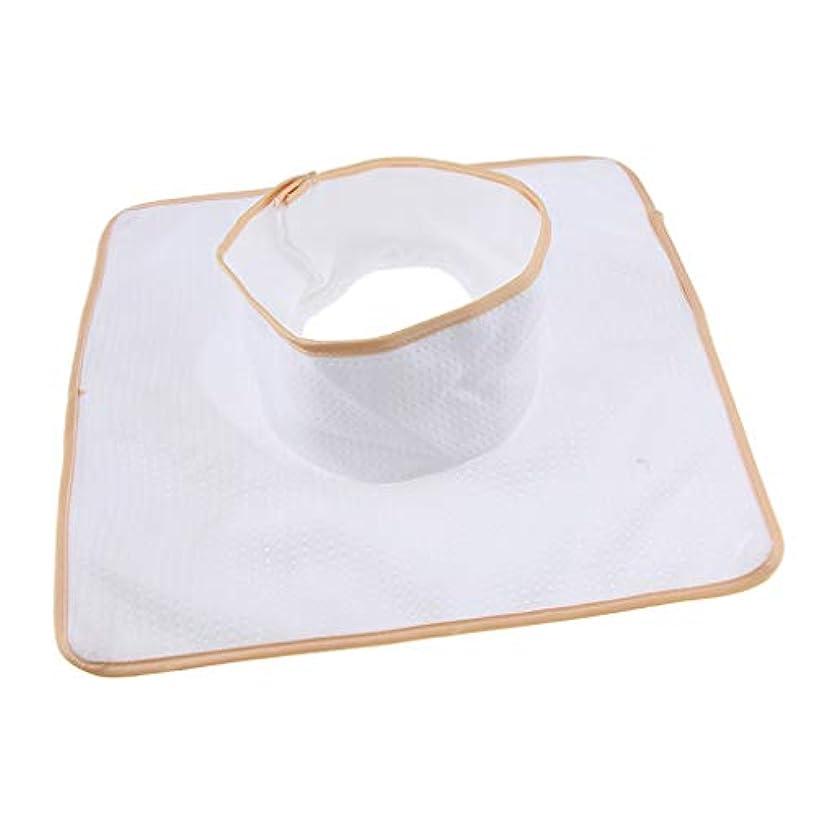 祈る出血スポットマッサージ ベッド テーブル ヘッドパッド 頭の穴付 再使用可能 約35×35cm 全3色 - 白