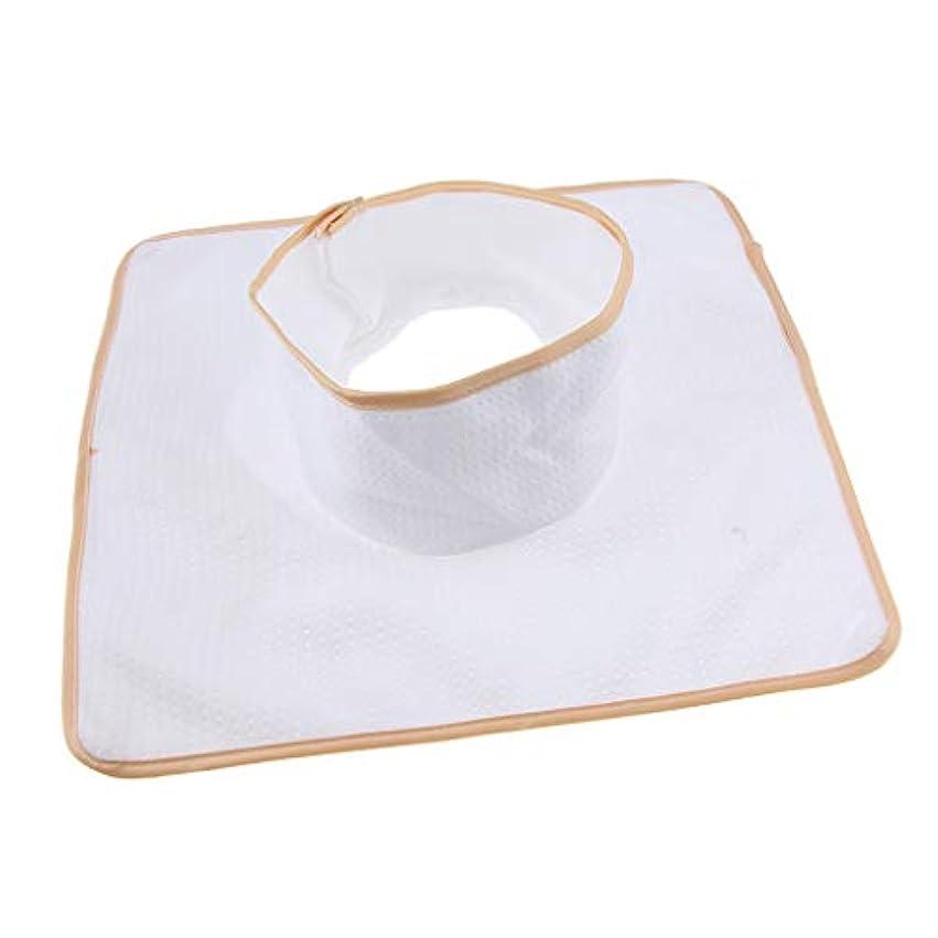 払い戻しスライム適度にマッサージ ベッド テーブル ヘッドパッド 頭の穴付 再使用可能 約35×35cm 全3色 - 白
