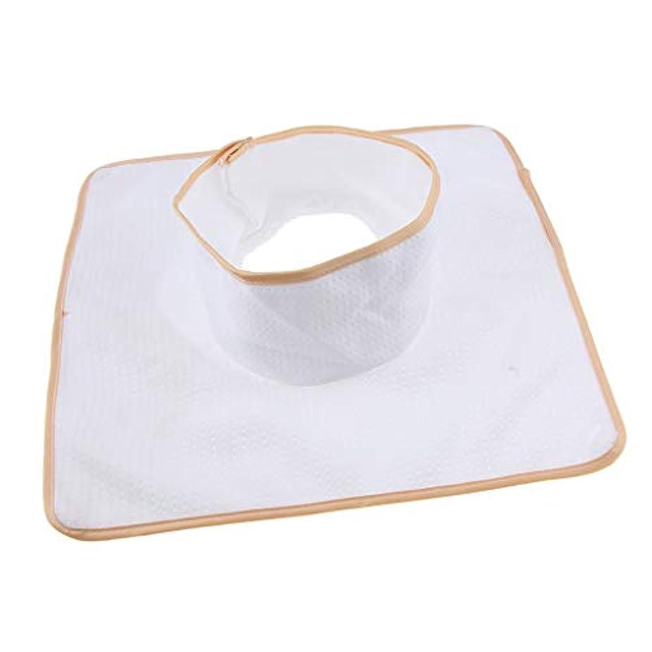 レスリング対応シェアマッサージ ベッド テーブル ヘッドパッド 頭の穴付 再使用可能 約35×35cm 全3色 - 白