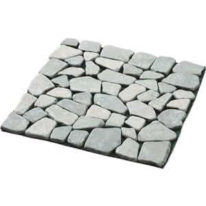 雑草が生えないおしゃれな天然石マット 6枚組(グリーン)