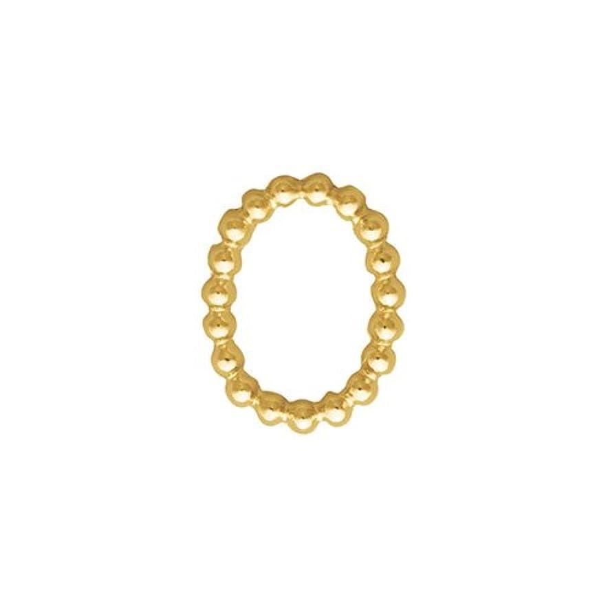 過剰ボイラー賞賛するプリティーネイル ネイルアートパーツ ブリオンオーバルSS ゴールド  15個