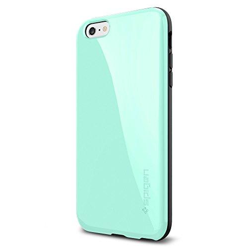 iPhone 6 Plus ケース, Spigen® [ 衝撃吸収+グリップ感 ] カペラ *電磁波軽減 プレート* Apple iPhone (5.5) アイフォン 6 プラス カバー (国内正規品) (ミント 【SGP11084】)