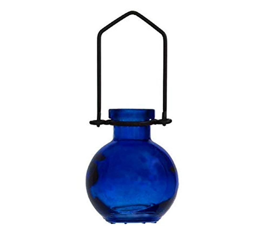 失われた伝導火星装飾用吊り下げ花瓶 小型のガラスボトル 寮の飾り カラフルなお香立て 壁掛け装飾 ロマンチックな装飾 ブルー G272VF