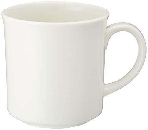 森修焼(しんしゅうやき) マグカップ 白 直径85×高さ90mm 【日本製陶器・電子レンジOK・遠赤外線・マイナスイオン】