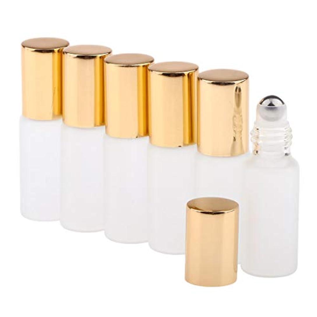 解任フレキシブルスポンジCUTICATE ガラスアロマボトル 精油 小分けボトル アロマオイル用瓶 香水用瓶 空のローラーボトル 精油ロールボトル 3色 - ゴールド