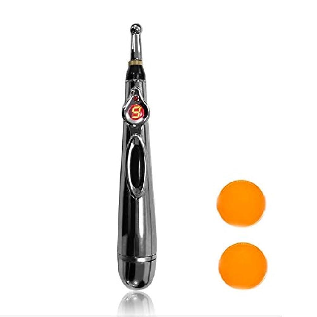 引用消毒剤考慮W-912電気鍼治療ポイントマッサージペン痛み緩和療法電子子午線エネルギーペンマッサージボディヘッドネック脚 - シルバー