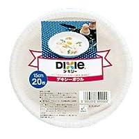 (まとめ)日本デキシー デキシーホワイト デキシーボウル 15cm 20枚 【×5点セット】