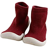 Xiang Ru Newborn Toddler Baby Anti-slip Slipper Floor Socks - Middle Tube - Cotton Thick Terry Cloth