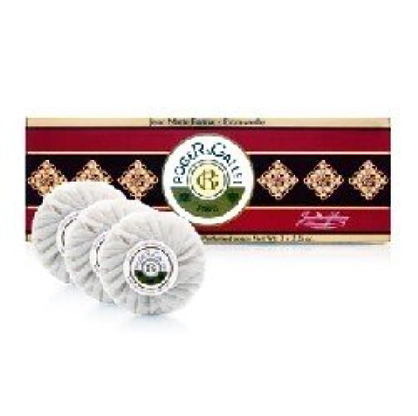 コットン心理的に磁気ロジェガレ ジャンマリーファリナ 香水石鹸3個セット ROGER&GALLET JEAN MARIE FARINA SOAP