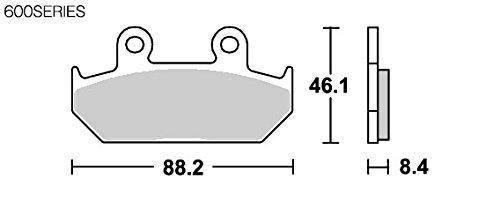 SBS ブレーキパッド 600HF セラミック VTZ250 GB250クラブマン スティード400 CB1000F  777-0600000