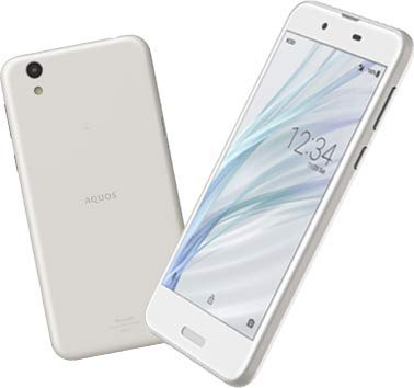 SIM フリー SHARP UQ mobile AQUOS sense SHV40 silky white シルキー ホワイト