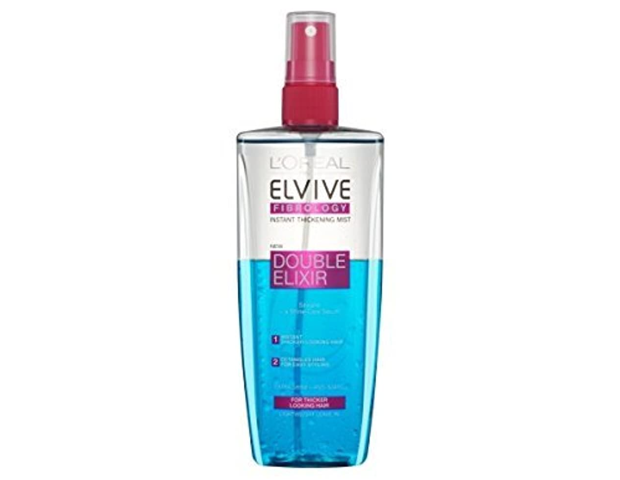明るくする自然フィッティングL'Oreal Elseve Fibralogy/Elvive Fibrology Double Elixir Express Balsam 200 ml / 6.7 oz by Elseve
