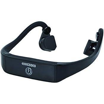 骨伝導 ワイヤレス ヘッドホン Bluetooth対応 CODEO コデオ (ブラック)