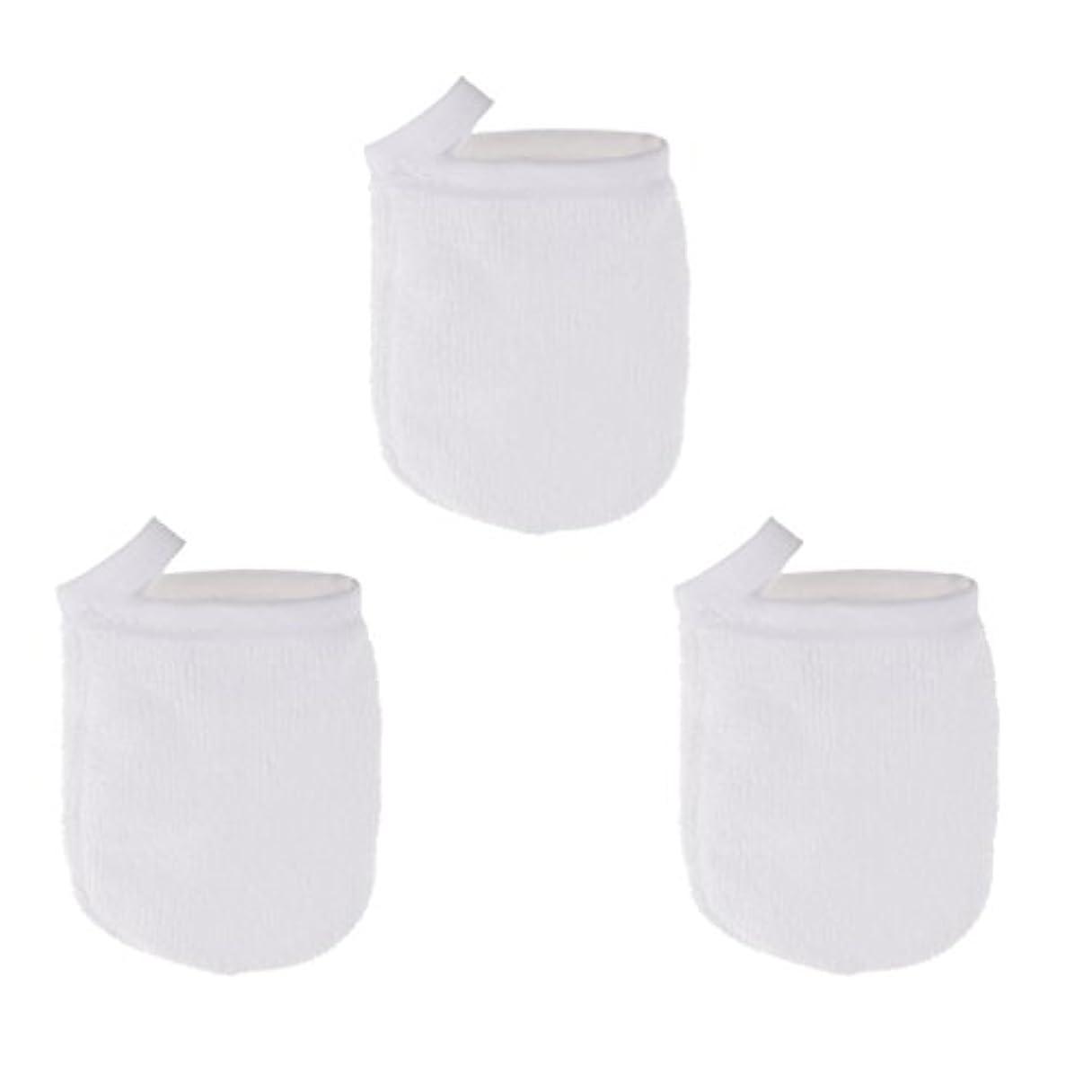藤色余韻買い手CUTICATE ソフト フェイスクレンジンググローブ メイクリムーバー クロスパッド 3個 洗顔グローブ 手袋