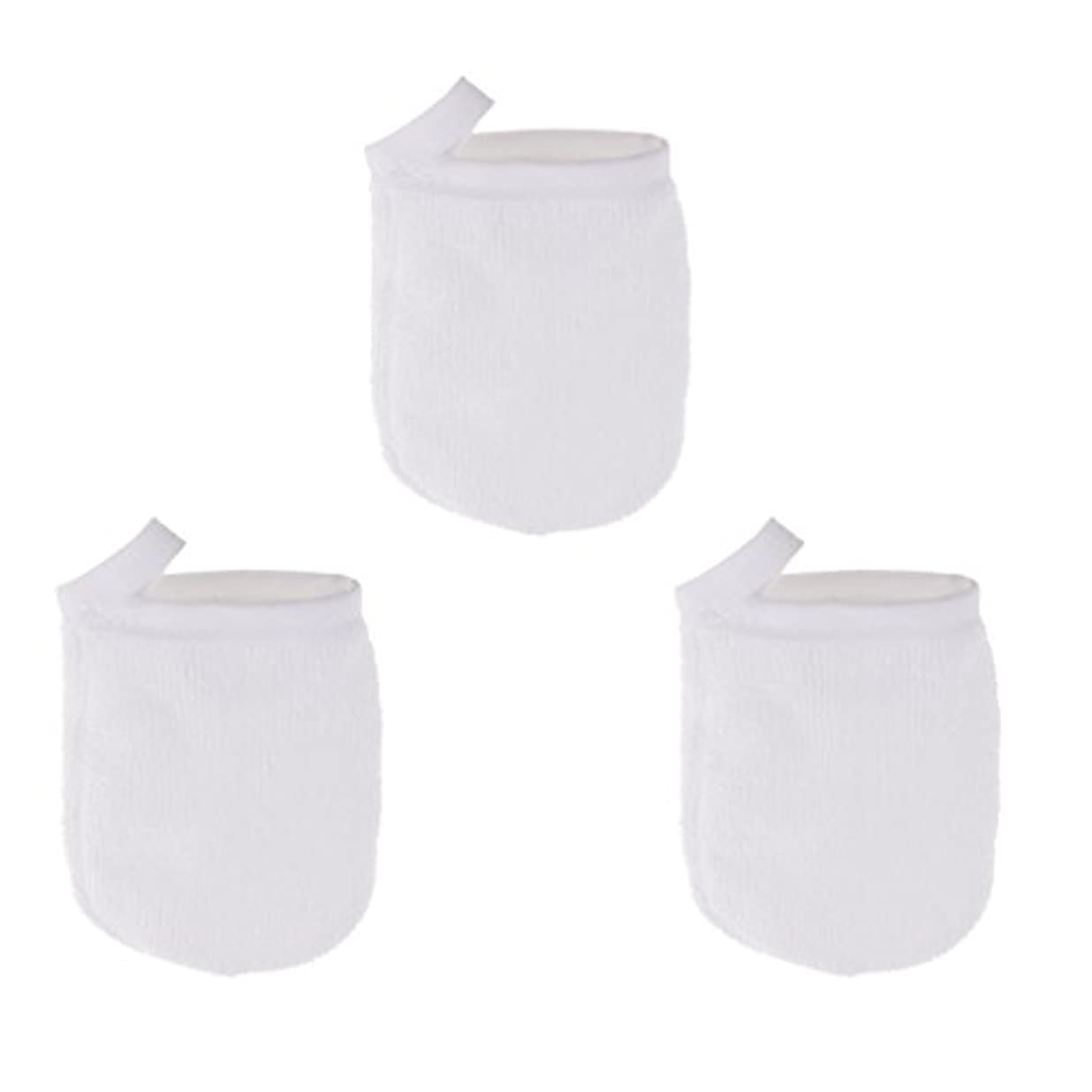 宇宙努力論理的CUTICATE ソフト フェイスクレンジンググローブ メイクリムーバー クロスパッド 3個 洗顔グローブ 手袋