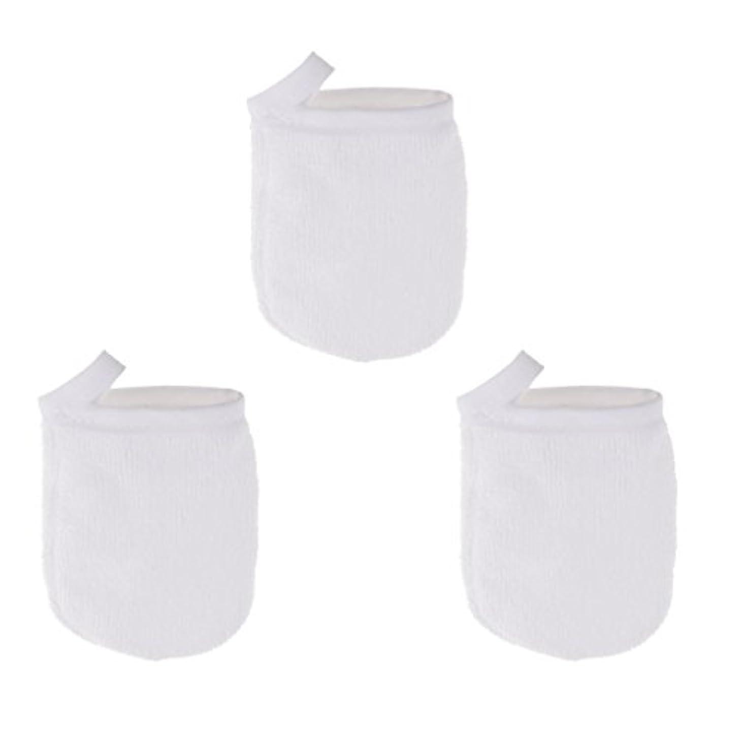 変装したラッドヤードキップリング神社ソフト フェイスクレンジンググローブ メイクリムーバー クロスパッド 3個 洗顔グローブ 手袋