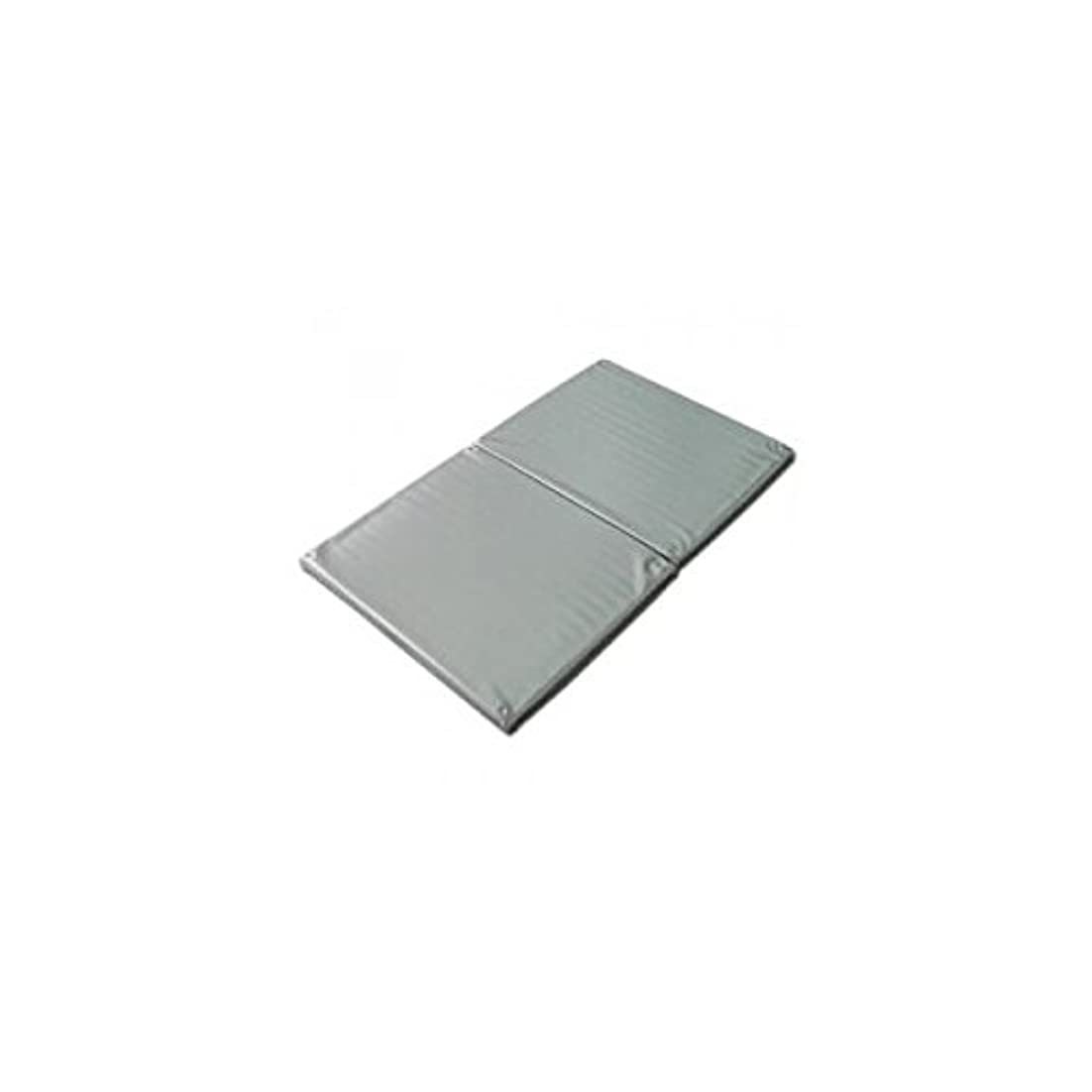 リベラルポルティコ馬鹿ヨックお風呂のマッサージ用マットP(2ツ折)シルバー 120×70cm│防水マッサージマット ポリエチレン製