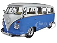1962 Volkswagen Classical Bus Low Rider Blue 1/24 Diecast Car Model by Welly サイズ : 1/24 [並行輸入品]