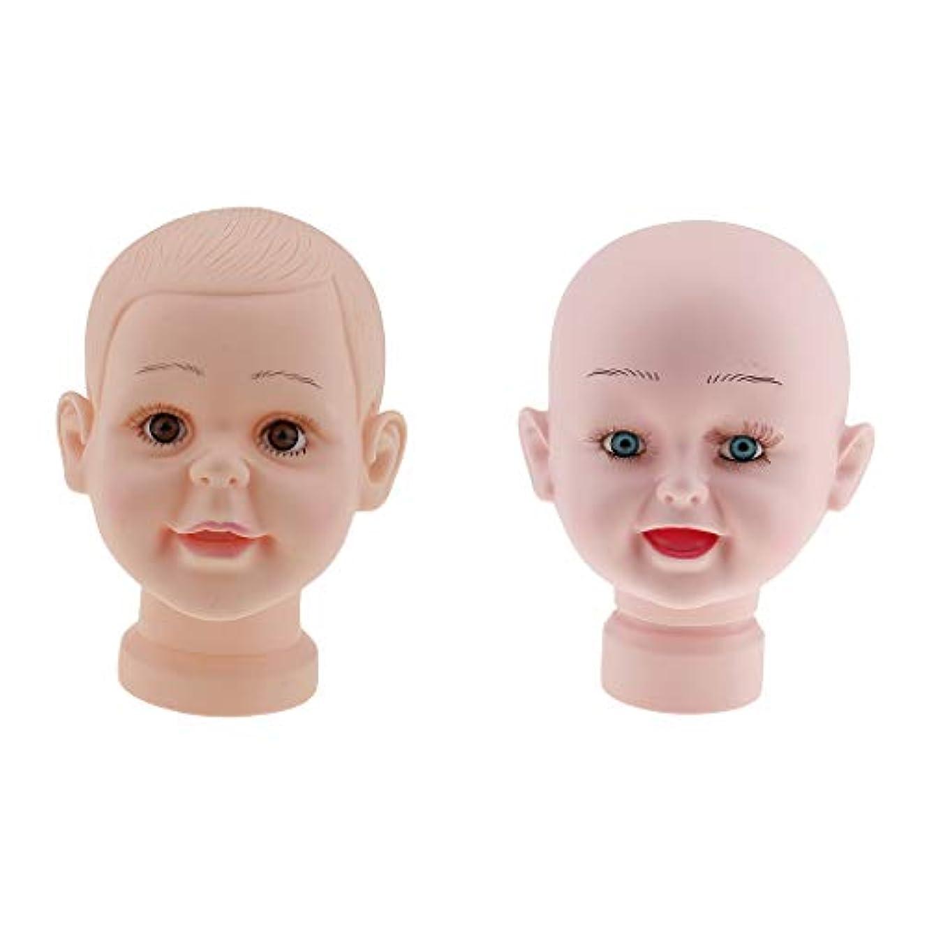 以上ハイライト通り抜ける子供マネキンヘッド 赤ちゃん チャイルドマネキンヘッド 肌色 頭部モデル かつら 帽子ディスプレイ
