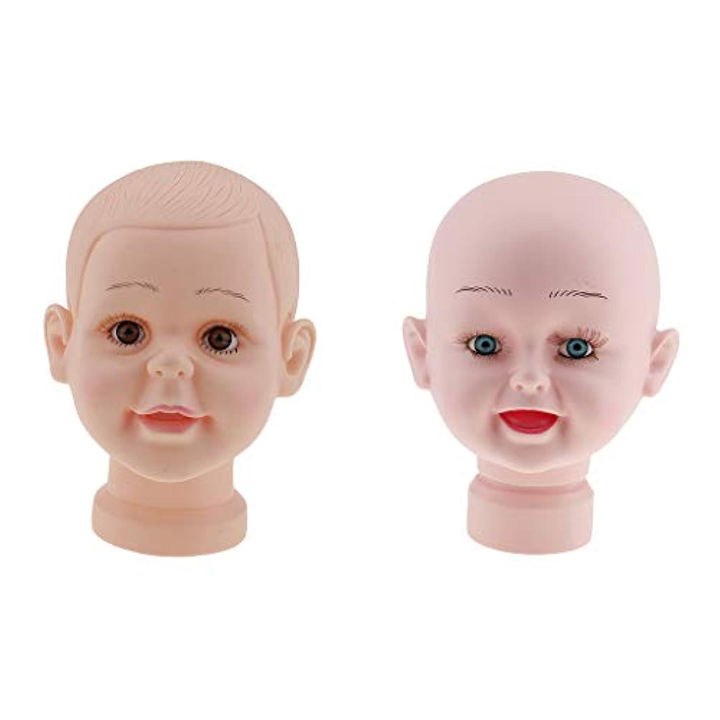 キャビン彼自身レオナルドダT TOOYFUL 子供マネキンヘッド 赤ちゃん チャイルドマネキンヘッド 肌色 頭部モデル かつら 帽子ディスプレイ