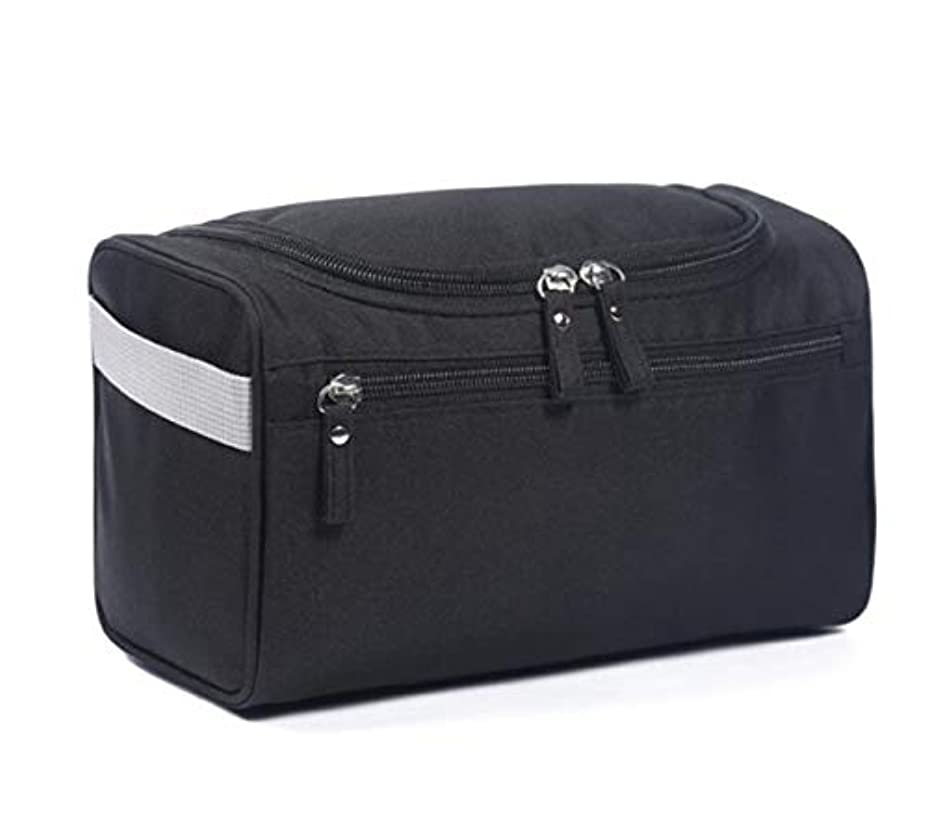 デコラティブ学校テレマコスJiabei メンズビジネストラベルウォッシュバッグ防水トラベルウォッシュバッグ保存袋 (色 : 黒)