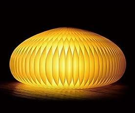 DuCôté(デュコテ)LAMP ~紙でできた折り畳めるインテリア家具~厳選したカナダの素材を使用 (Yellow)