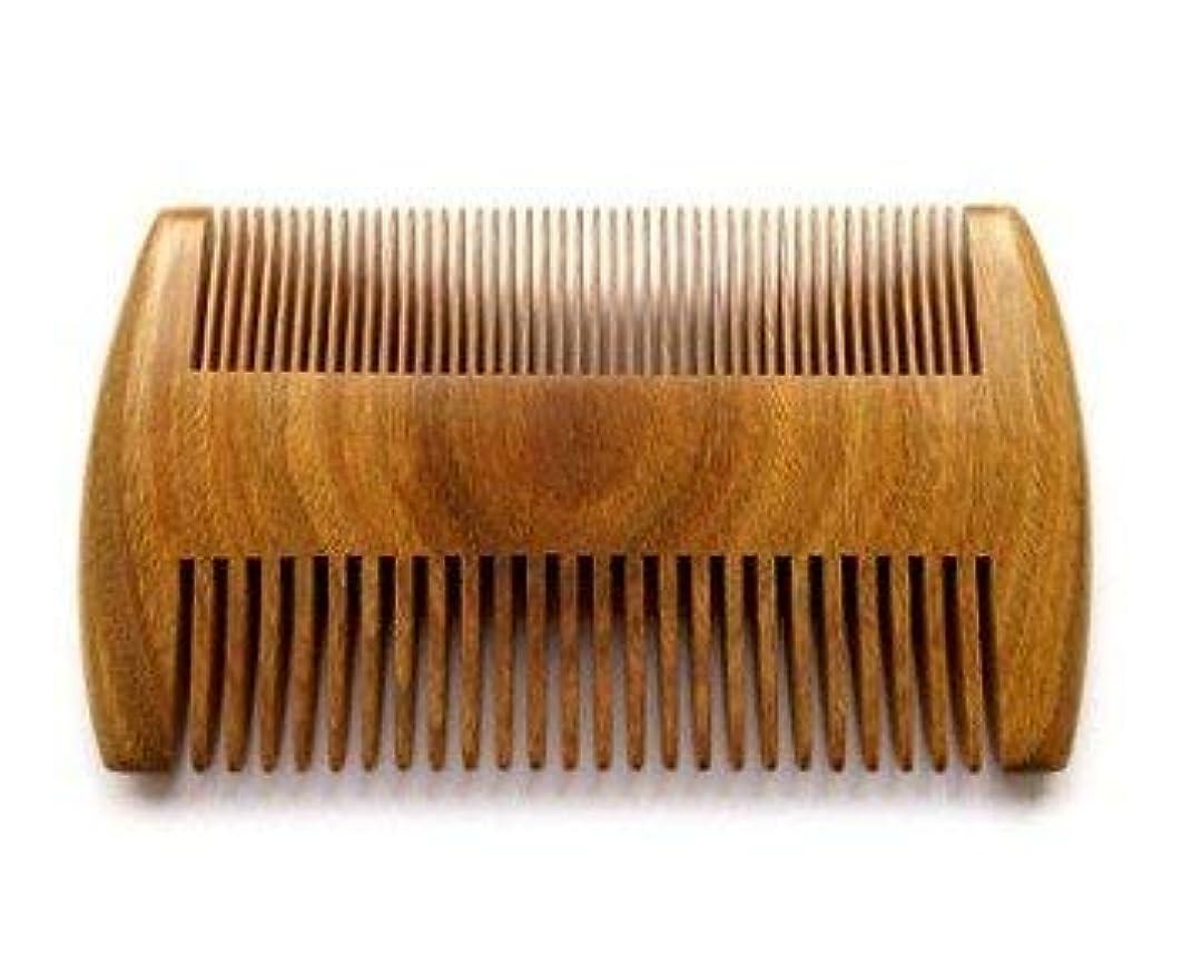 アクティブ定数ベーリング海峡Myhsmooth GS-SM-NF Handmade Natural Green Sandalwood No Static Comb Pocket Comb Perfect Beard Comb with Aromatic...