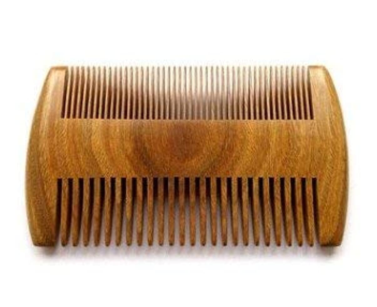 Myhsmooth GS-SM-NF Handmade Natural Green Sandalwood No Static Comb Pocket Comb Perfect Beard Comb with Aromatic...