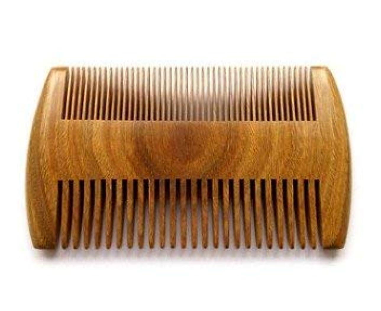 神聖繰り返したメインMyhsmooth GS-SM-NF Handmade Natural Green Sandalwood No Static Comb Pocket Comb Perfect Beard Comb with Aromatic...